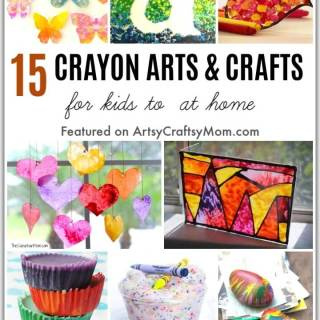 Got lots of stray crayons and crayon bits lying around? Use them to make these beautiful Crayon Arts and Crafts for Kids to Make while stuck at home!