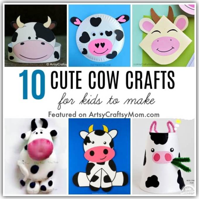 The humble cow gives us so much, which means she needs to be appreciated! Celebrate Cow Appreciation Day on 7th July with these cute cow crafts for kids!