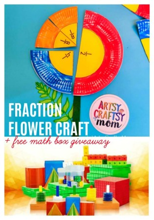 Make math learning fun for kids- Learn fractions using our Paper Plate Fraction Flower Craft + a fun #CuemathGiveaway by @artsycraftsymom & @Cuemath that you don't want to miss!