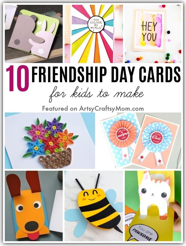 Your friends may be social distancing, but you can still celebrate Friendship Day - with our colorful and easy DIY Friendship Day Cards that Kids can Make!