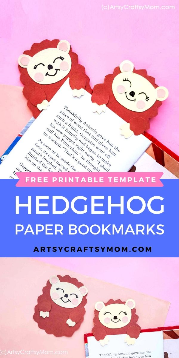 It's always good to have a friend who has your back, and this little Printable Hedgehog Bookmark will help remind you of your place in your favorite book!