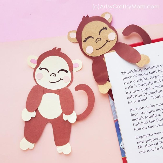 Need a little friend on your reading journey? This Printable Monkey Bookmark is the perfect pal, and it also comes with a Free Template to download!