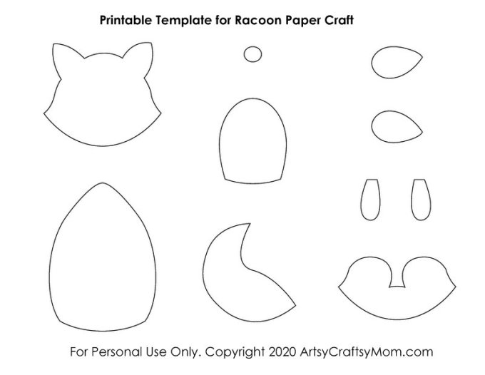 Our Printable Racoon Paper Craft is perfect for International Racoon Appreciation Day, the right time to learn about these amazing animals!
