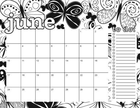 Free Printable 2018 Coloring Calendar | Artsy Dork