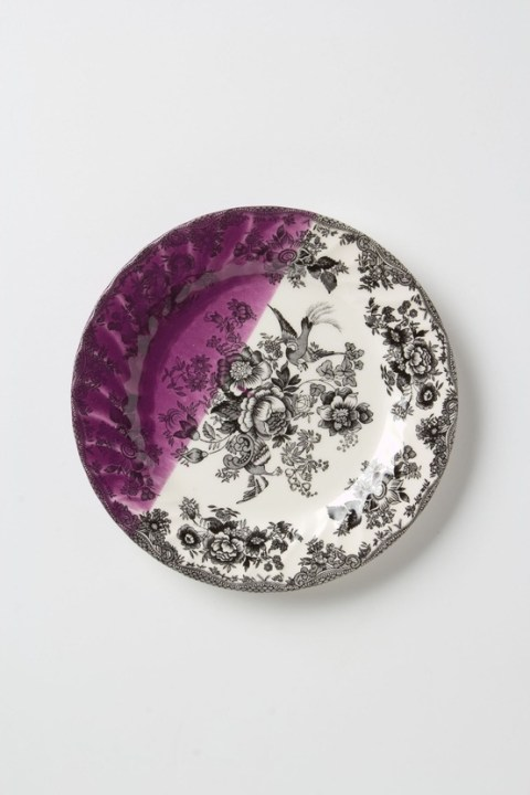 Dipped Toile Dessert Plates by Anthropologie