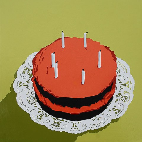 It's Not My Birthday, That's Not My Cake ( On a Doily ) by Lori Larusso