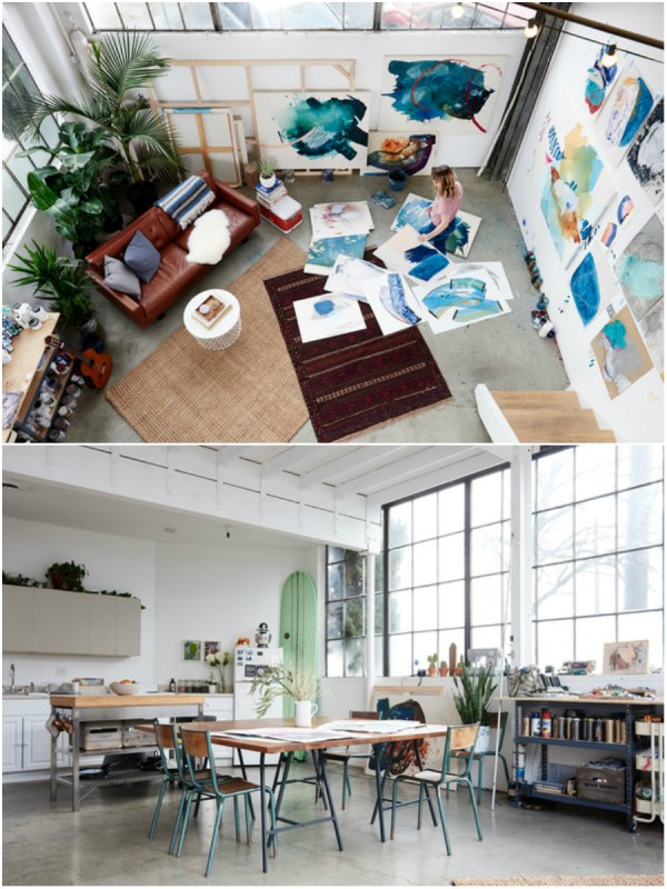 Day studio collage