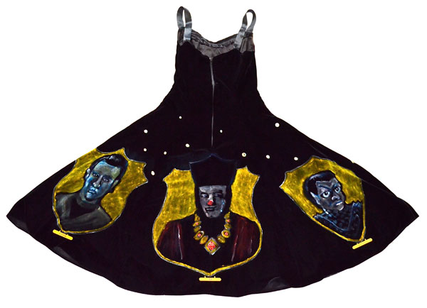 """""""The Triumphs of Picard"""" (Back of velvet painting dress)"""" (2nd place winner at Captain Picard Day 2012)"""