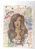 Self portrait watercolor