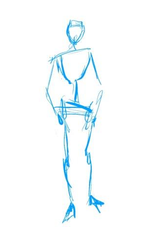 standing sketch 4