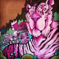 Purple Tiger and Elephant