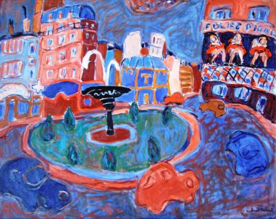Art Thema Gallery - Robert Delval - Paris Place Pigalle 73x92