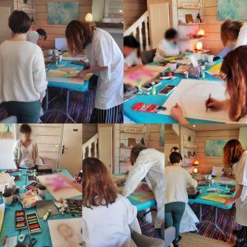 atelier découverte de l'art-thérapie evolutive® au cabinet de Carignan-de-Bordeaux