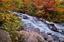 Wild Waterfall in Autumn