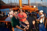 Sunset cruise on a clipper ship