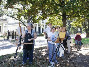 Painting in the Garden District