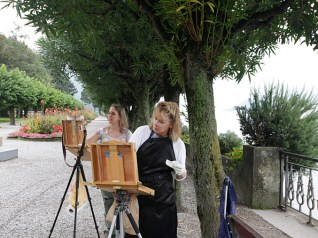 Painting in Bellagio