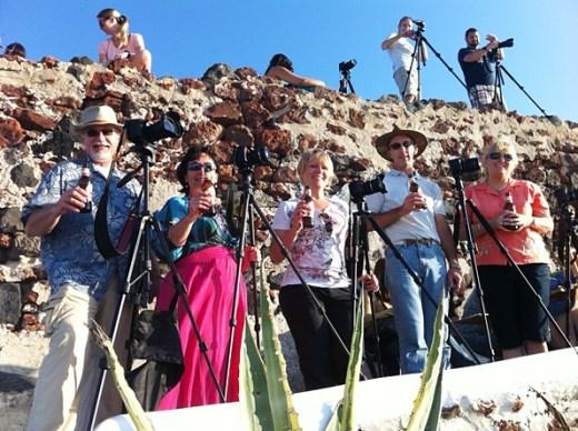 Photographers waiting for sunset