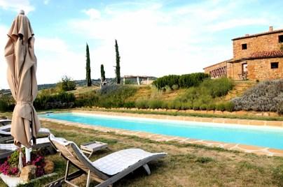 Poolside at the villa