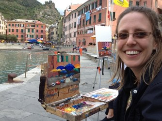 Painting the Varenna harbor