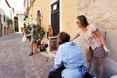Teaching in Pienza