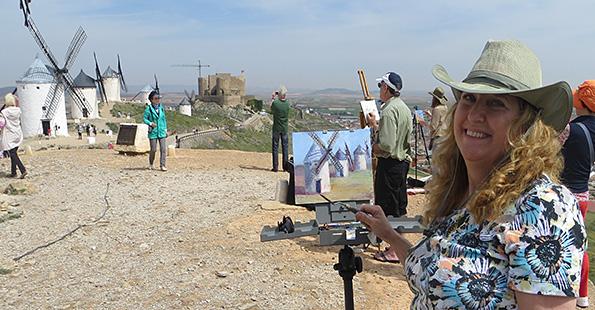 Painting windmills