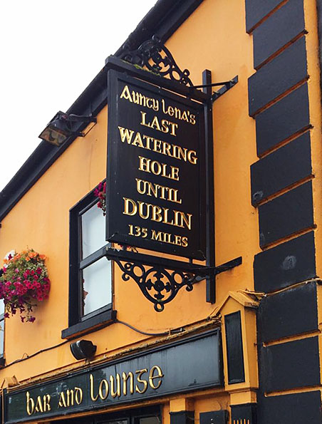 a pub sign in Adare