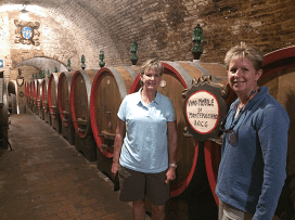 Checking out the wine cellar