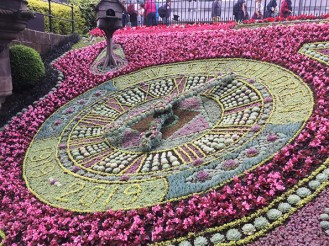 Beautiful flower clock.