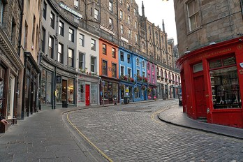 Edinburg's colorful streets.