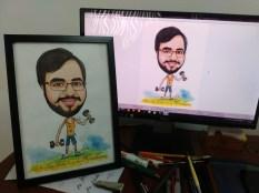 Final work framed