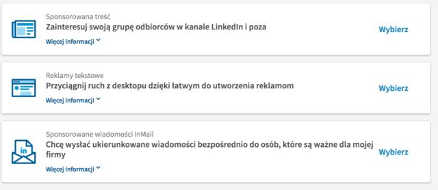 rodzaje reklamy linkedin  Reklama na Linkedin – od ustawień po średnie koszty. Poradnik rodzaje reklamy linkedin 1024x444