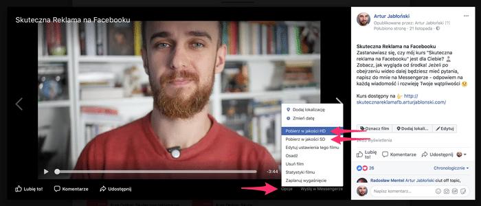 jak pobrać film z facebooka? oto 3 sprawdzone metody! Jak pobrać film z Facebooka? Oto 3 sprawdzone metody! Pobieranie w  asnego filmu z fanapgea