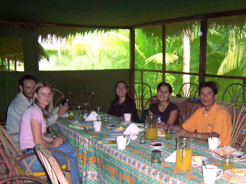 Friends, team memebers and visitor s enjoying Real organic food