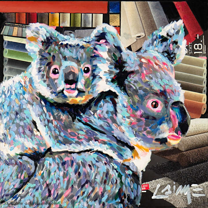 Koalas at the rugstore painting