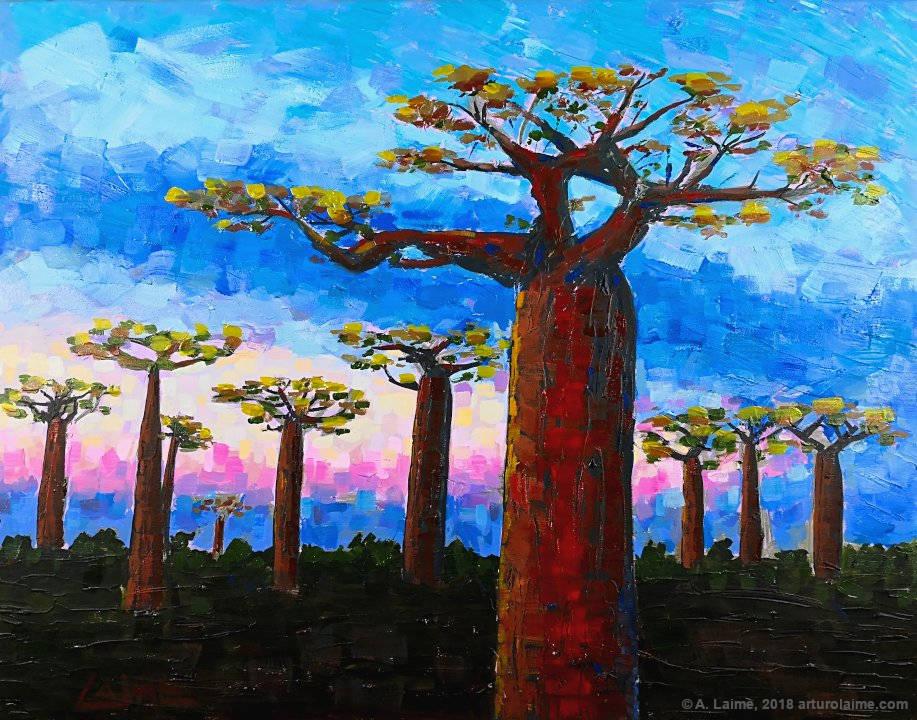 Baobabs original painting