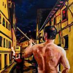 The pyromaniac painting