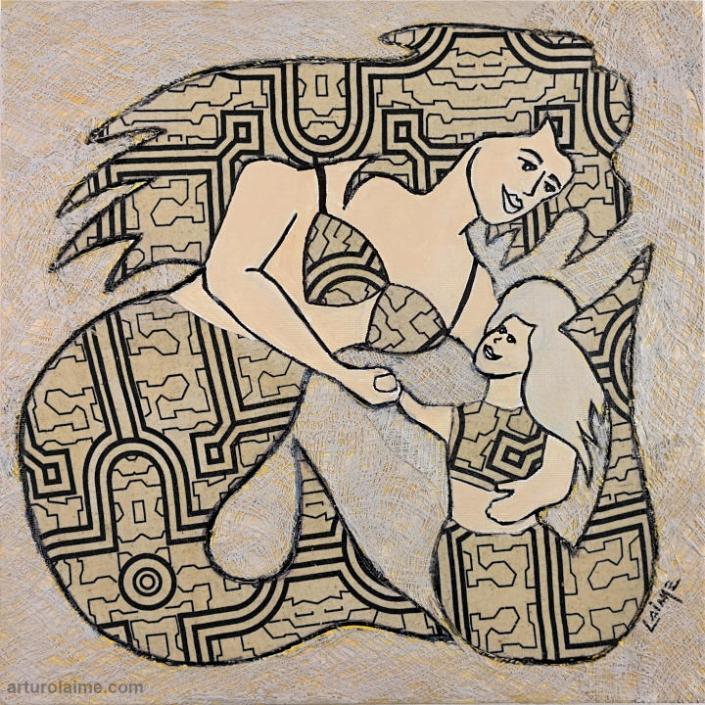 Mermaid & daughter by Arturo Laime