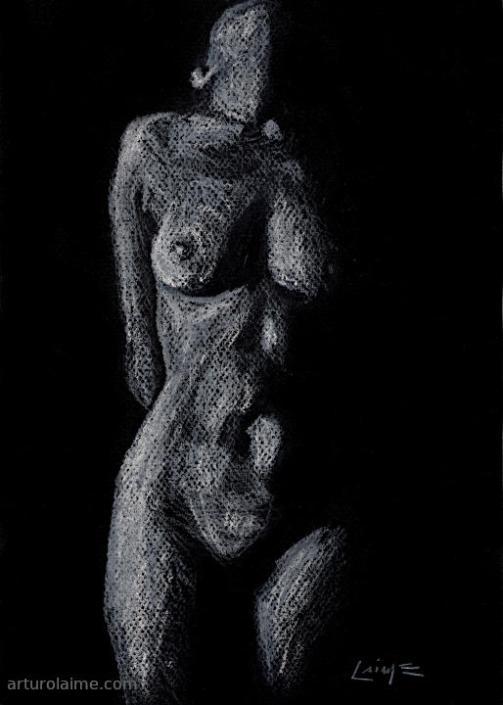 white torso 1 artwork on paper