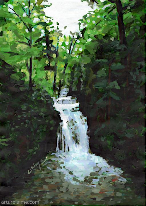 Geroldsauer Waterfall by Arturo Laime