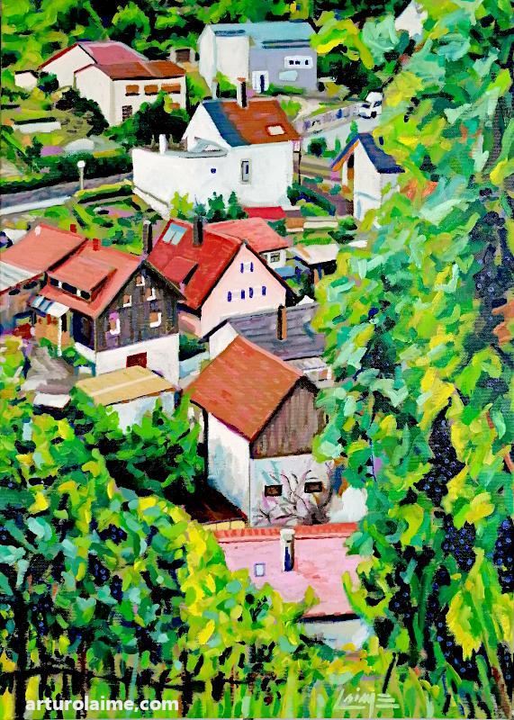 Vineyards in Varnhalt by Arturo Laime