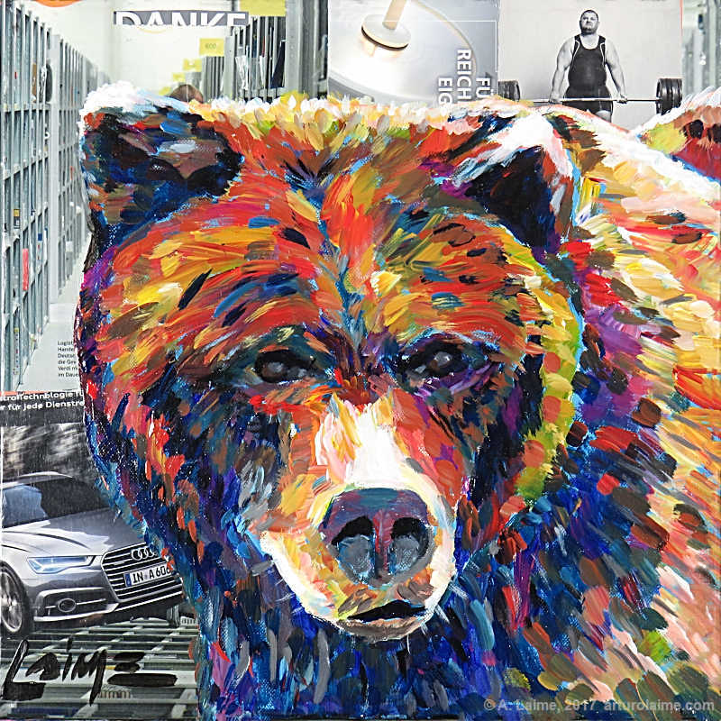 Bär der Stadt Gemälde
