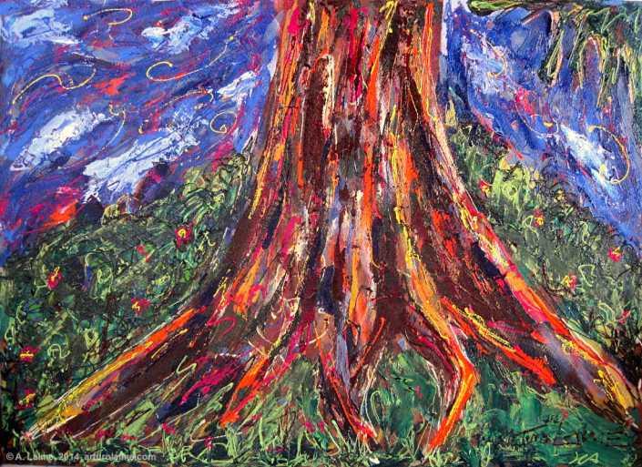 Wurzeln Gemälde