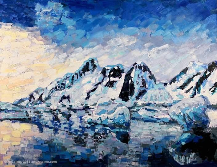 Antarktis Original-Gemälde