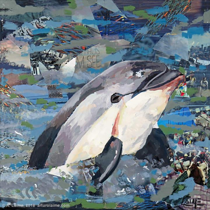 Vaquita Delphin Gemälde