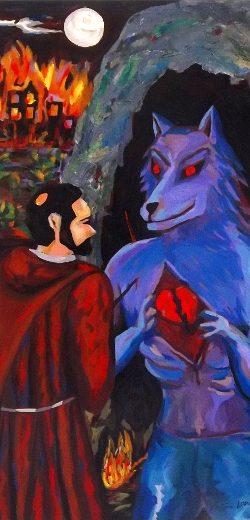 Der heilige Franziskus und das Wolfsdetail
