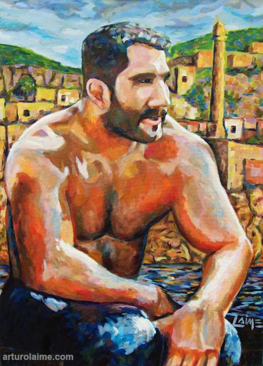 Ringer in Hasankeyf Gemälde