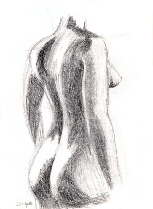 Femme derrière