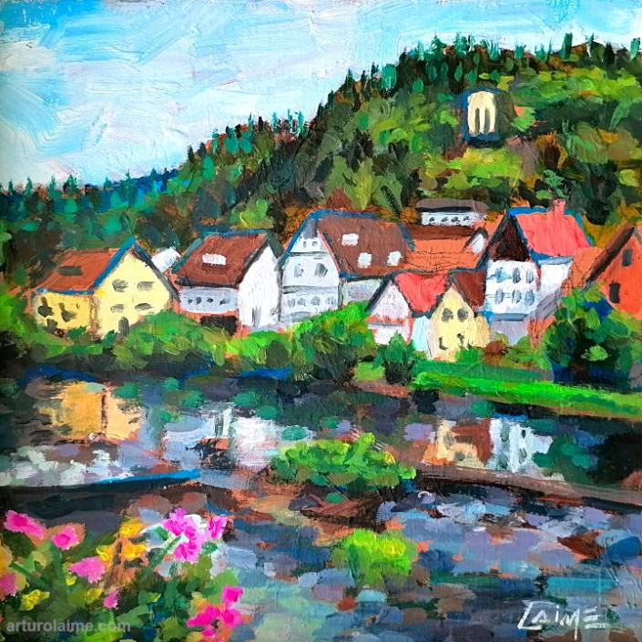 Gernsbach im Murgtal Gemälde