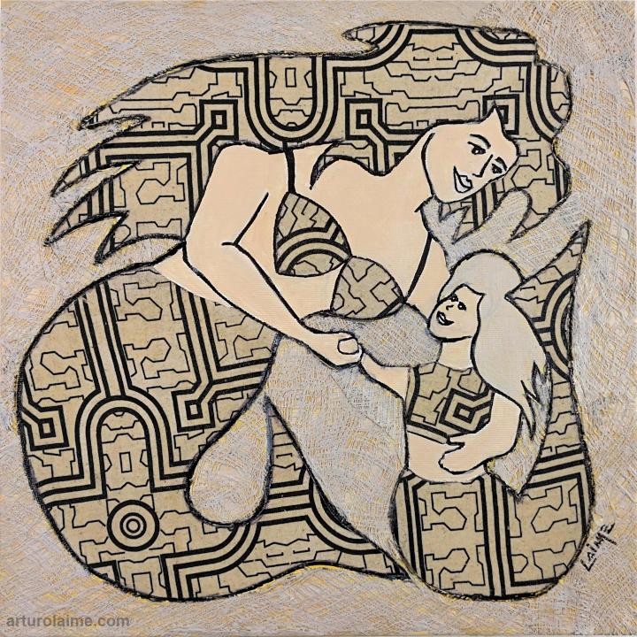Meerjungfrau & Tochter von Arturo Laime